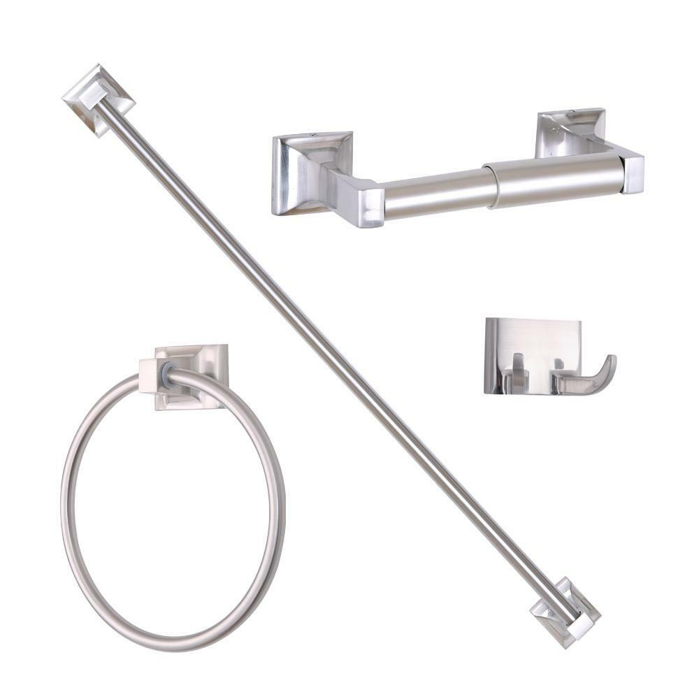 Cool Brushed Nickel Bath Accessory Toilet Roll Tissue Paper Holder Bathroom
