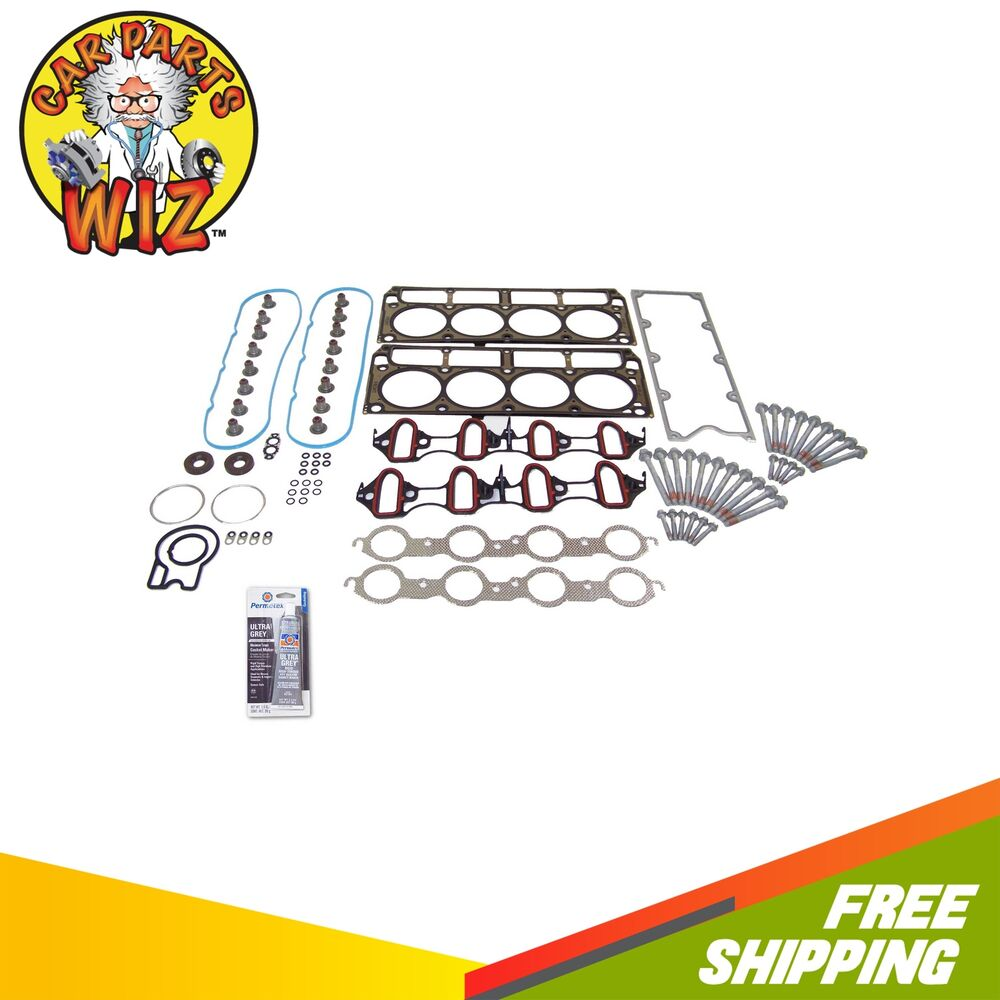 2012 Gmc Savana 2500 Cargo Head Gasket: Head Gasket Set Bolts Fits 04-07 GMC Chevrolet Cadillac