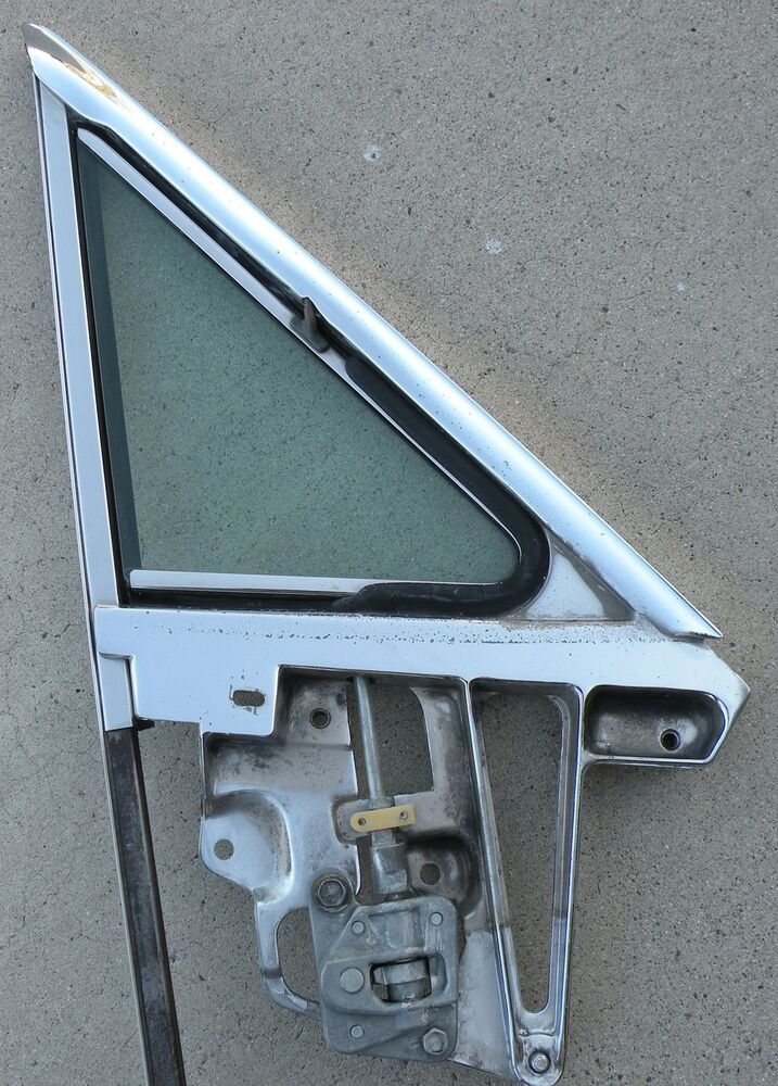Thunderbird wing window frame glass passenger side right for Right window