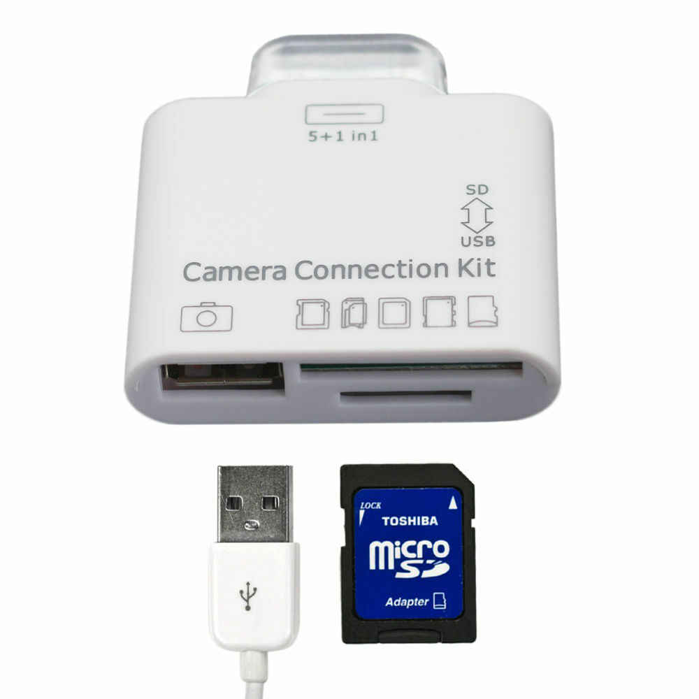 iphone camera connection kit 5in1 usb connection kit sdhc tf sd card reader 15202