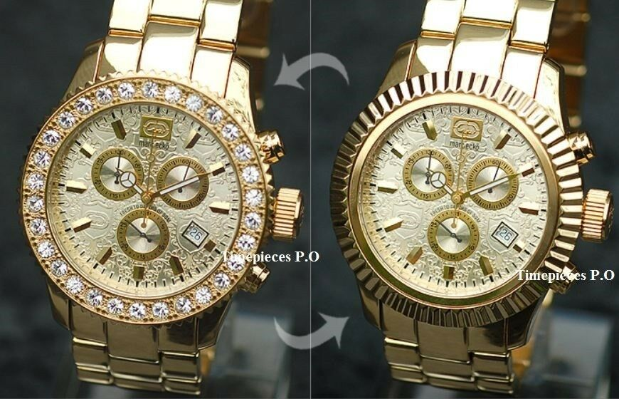 marc ecko s e22531g1 gold gold tone stainles steel