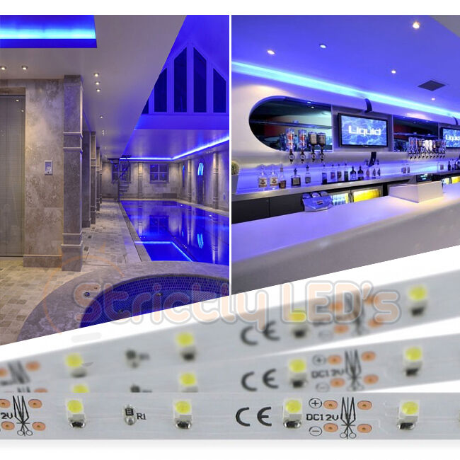 Kitchen Under Cabinet Strip Lighting: LED STRIP LIGHTS BLUE LED TAPE RIBBON KITCHEN UNDER