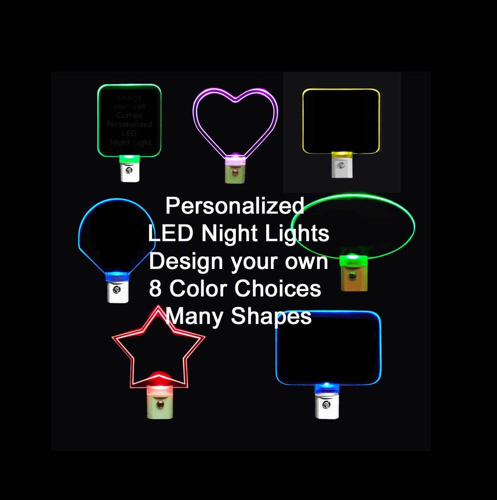Personalized Led Night Light Custom Led Lights Design