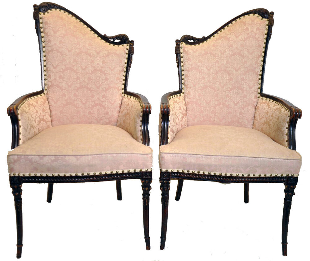 Vintage Pair of Hollywood Regency Fireside Chairs, Great Original Condition | eBay