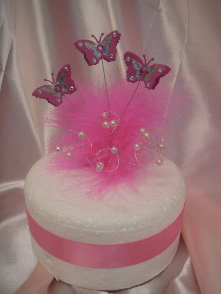 Feather Butterfly Cake Decorations