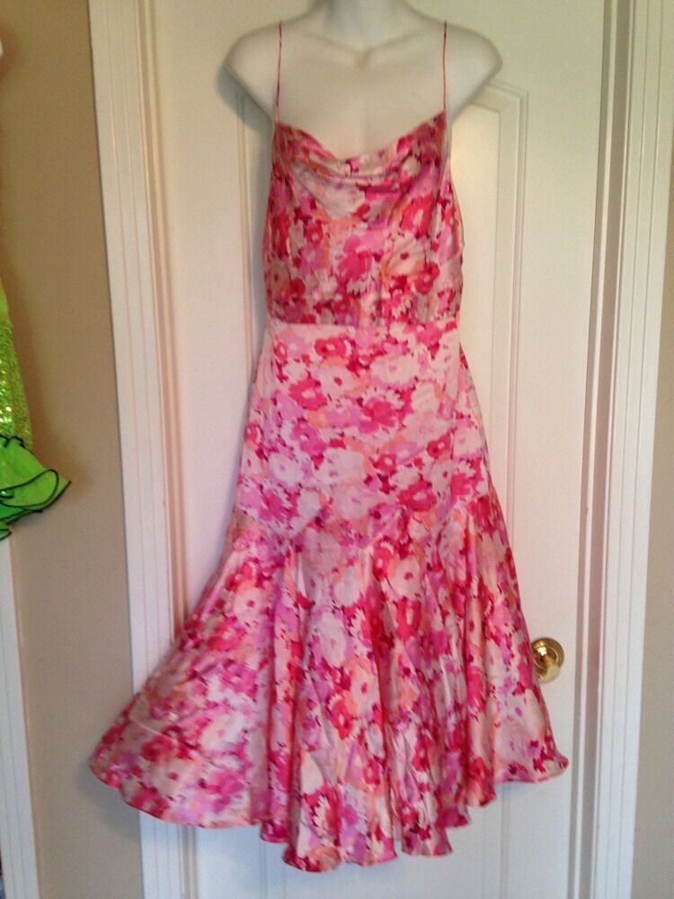 Banana republic 100 silk garden party dress size 8 pink for Banana republic wedding dresses