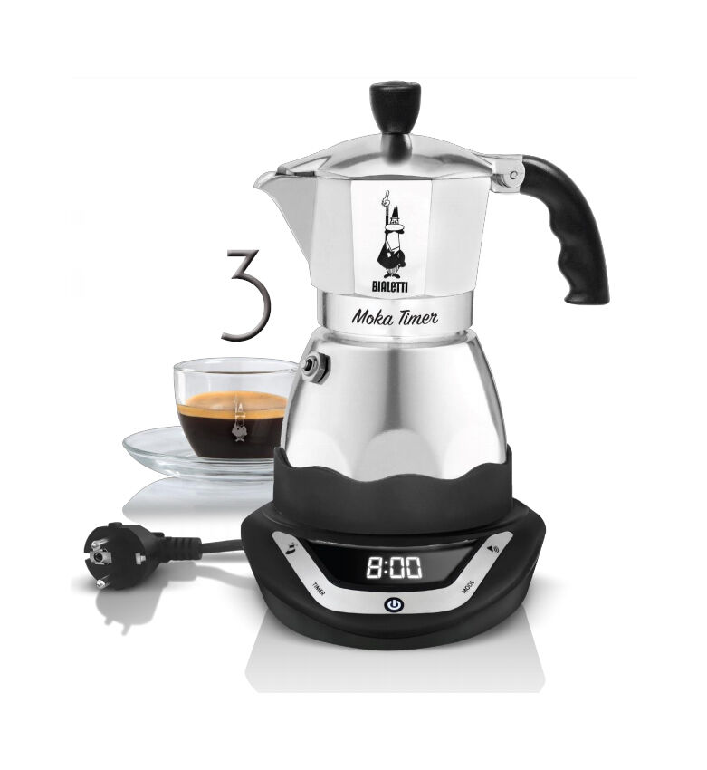 Bialetti Coffee Maker Debenhams : BIALETTI easy Timer moka coffee maker 3 cups electric espresso programmable eBay