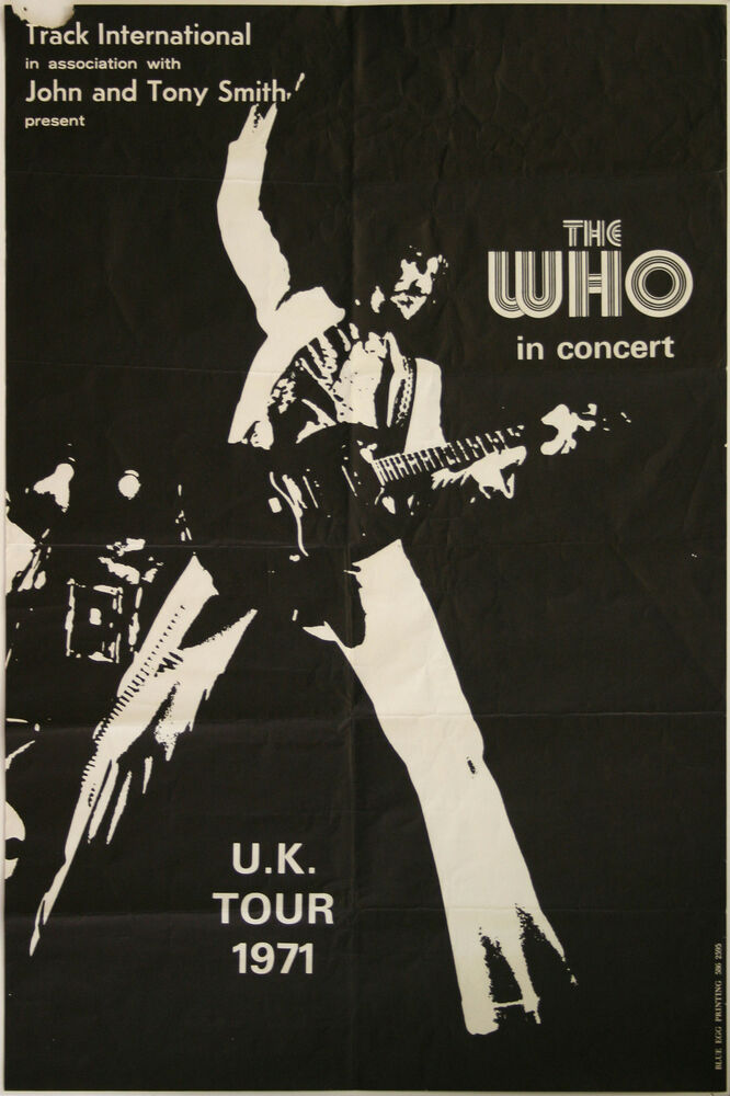 0275 Vintage Music Poster Art The Who UK Tour 1971 *FREE ...