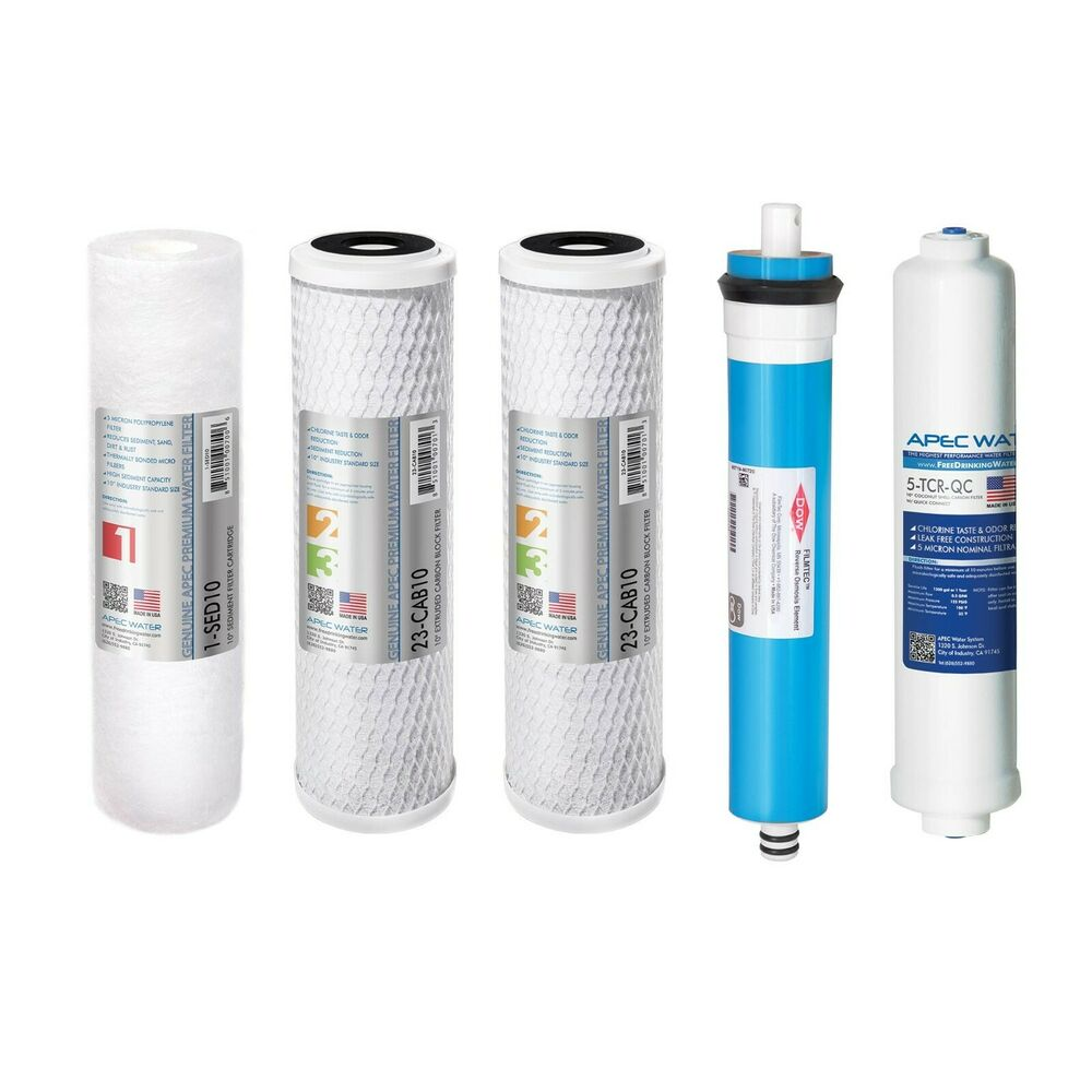 Apec Us Made 90 Gpd Complete Replacement Water Filter For