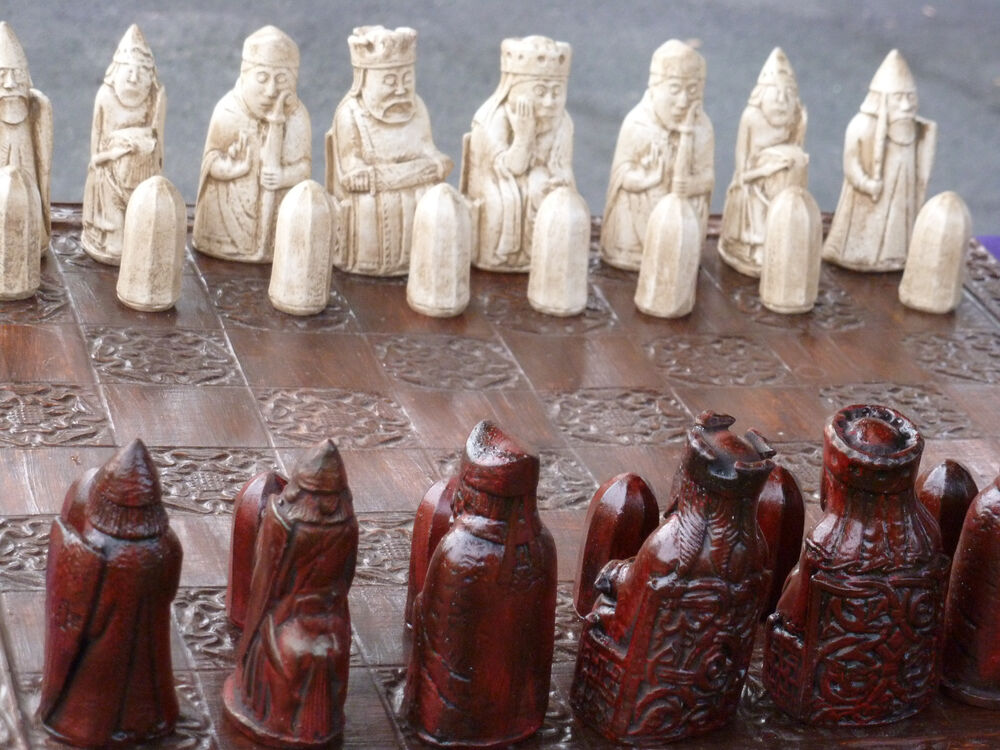 Custom Chess Sets Isle Of Lewis Pieces Only Walking
