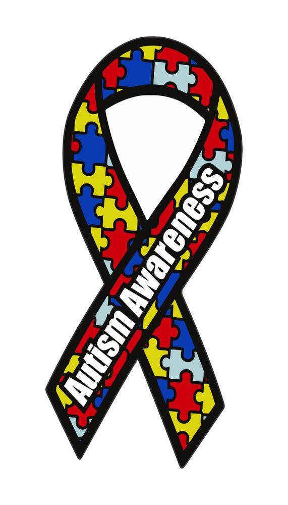 Autism Awareness Ribbon Bumper Sticker Vinyl Car Window ...