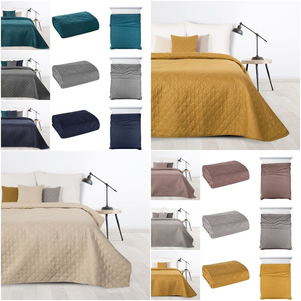 zweiseitige tagesdecke doppelseitig bett berwurf 170x210. Black Bedroom Furniture Sets. Home Design Ideas