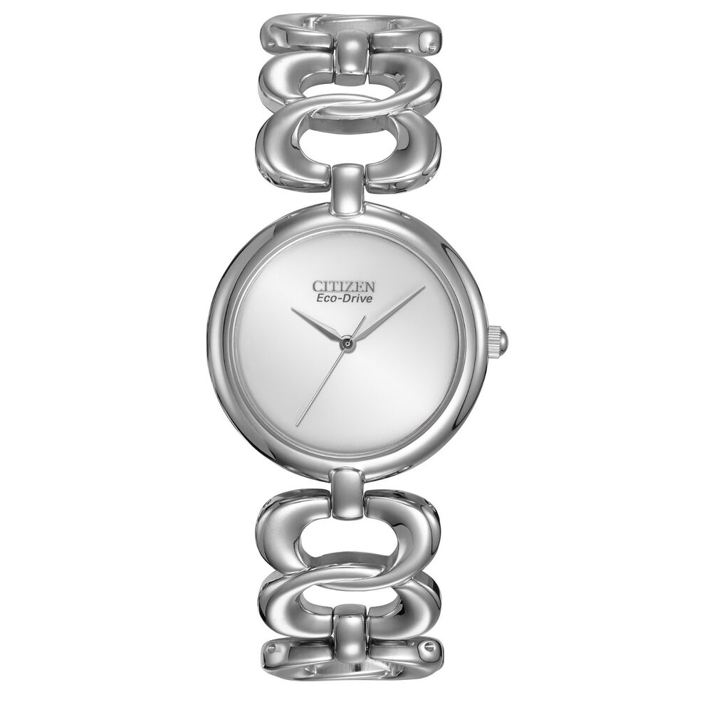 New ladies citizen em0220 53a eco drive stainless steel bracelet bangle watch ebay for Ladies bangle watch