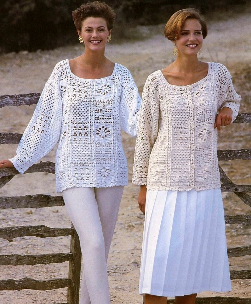 Crochet Patterns Ladies : (178) Ladies Crochet Pattern for Crochet Sweater and ...