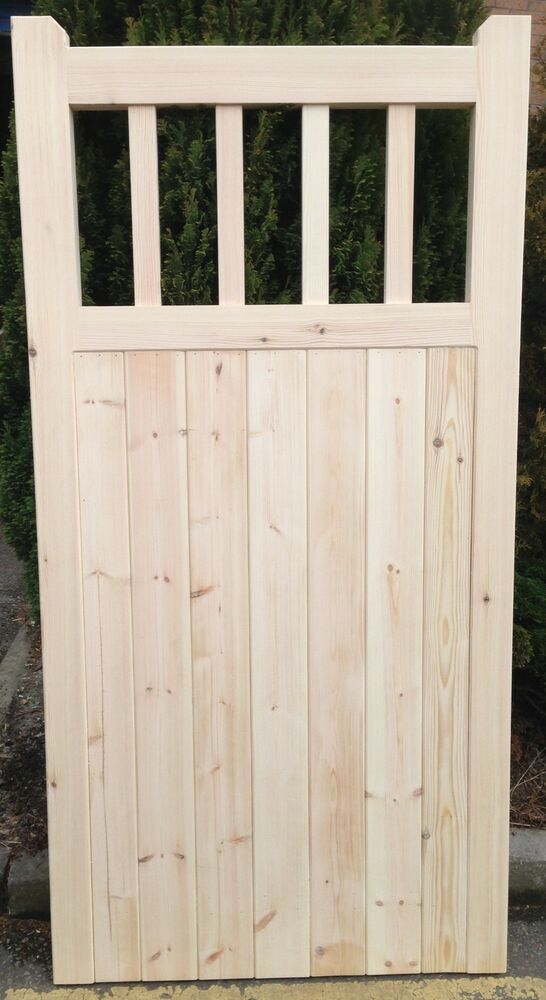 Old lodge wooden cottage style timber side garden gate ebay