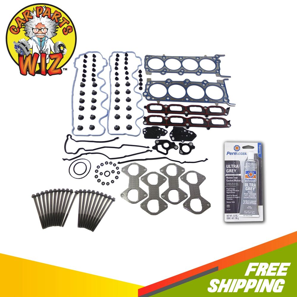 Ford F 150 2000 Cylinder Head Gasket: Head Gasket Set Bolts Fits Ford Expedition F150 F250