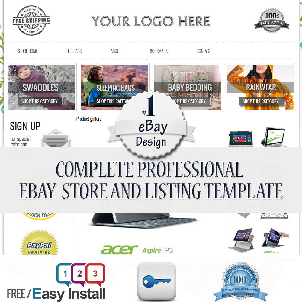 ebay professional design listing template store layout theme dynamic category ebay. Black Bedroom Furniture Sets. Home Design Ideas