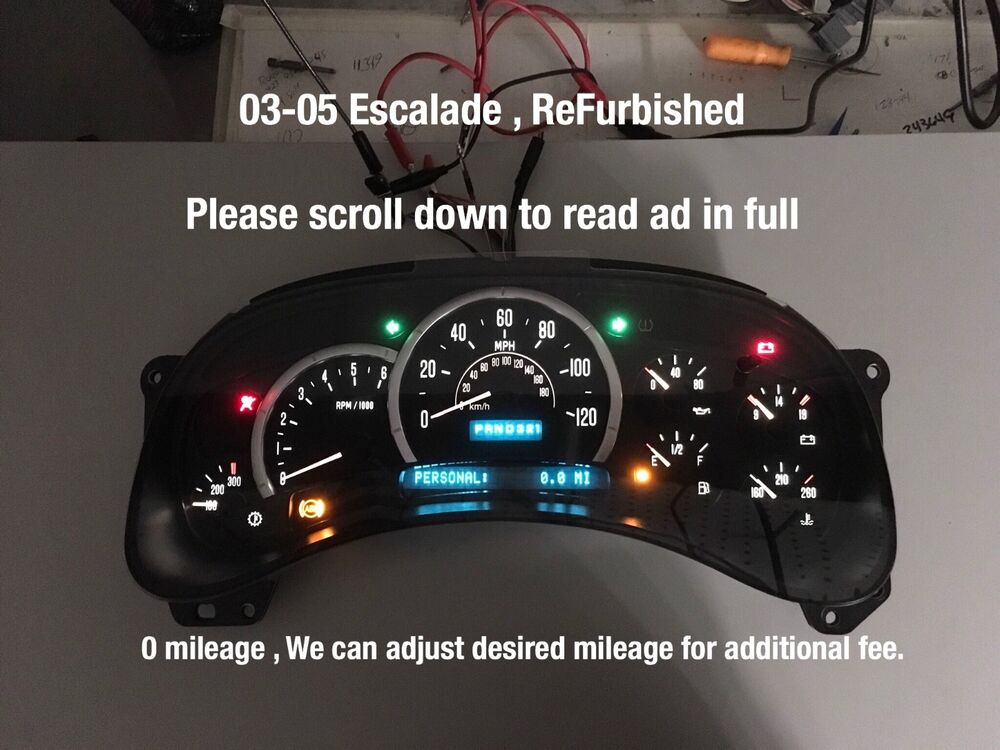 Car And Truck Shop >> 03 04 05 Suburban SPEEDOMETER DASH CLUSTER REMAN WE SET ...