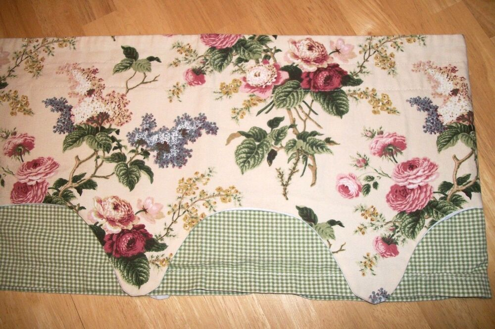Waverly Home Classics Window Valance Green Gingham Floral