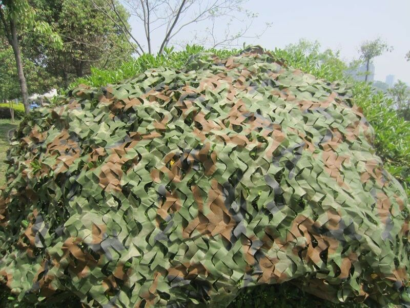 Hunting Camping Military Camouflage Net Woodlands Leaves