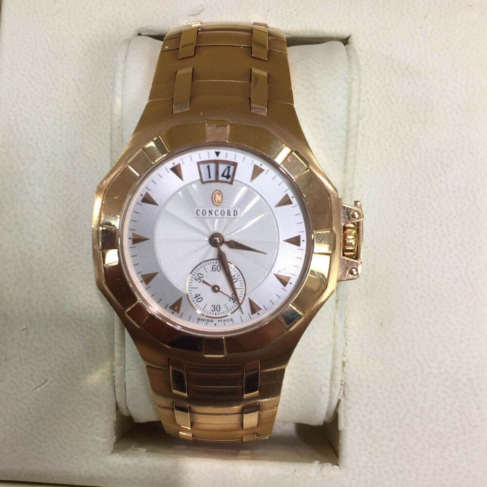 new concord saratoga automatic 18kt solid gold 0310495