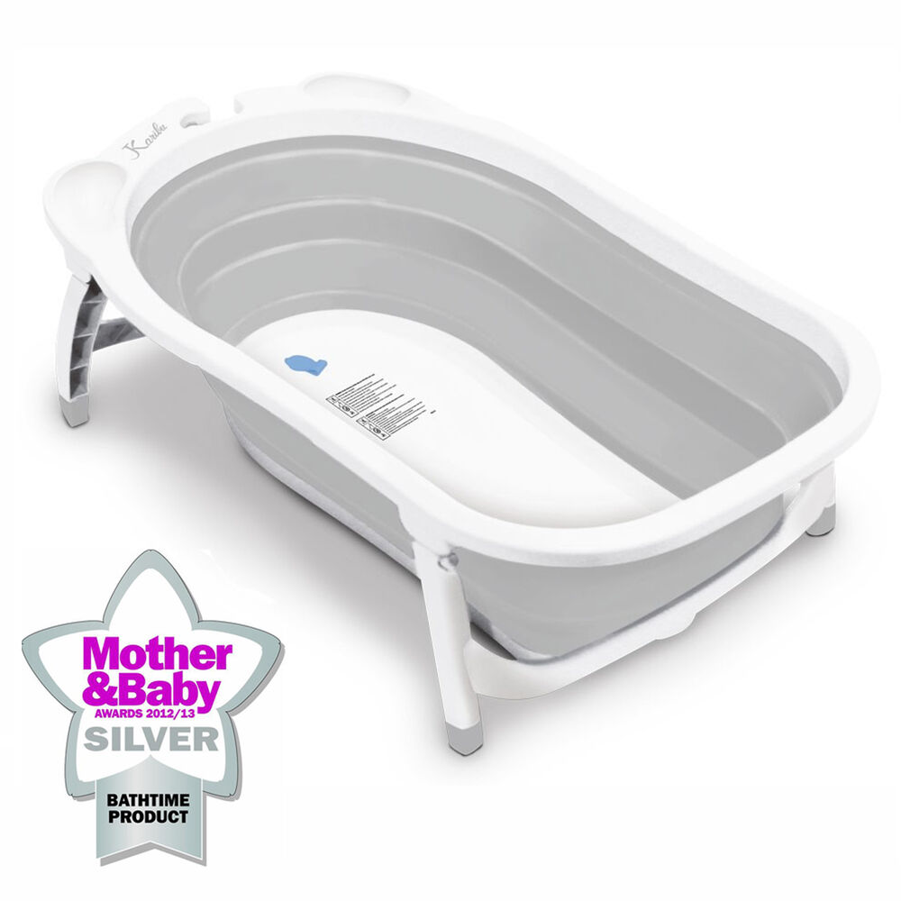 karibu baby bath travel folding bath infant to toddler anti slip bathtub grey ebay. Black Bedroom Furniture Sets. Home Design Ideas