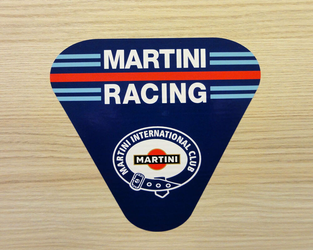 martini racing club aufkleber 80 x 73 mm laminierte. Black Bedroom Furniture Sets. Home Design Ideas