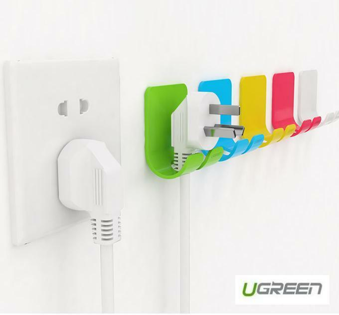 Electrical Cord Hangers: 2 X UGREEN Adhesive Power Cord Socket Cable Holder Wall