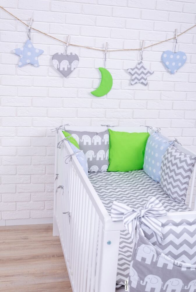 baby bettw sche nestchen bettset 100x135 f r babybett decke kissen bettumrandung ebay. Black Bedroom Furniture Sets. Home Design Ideas