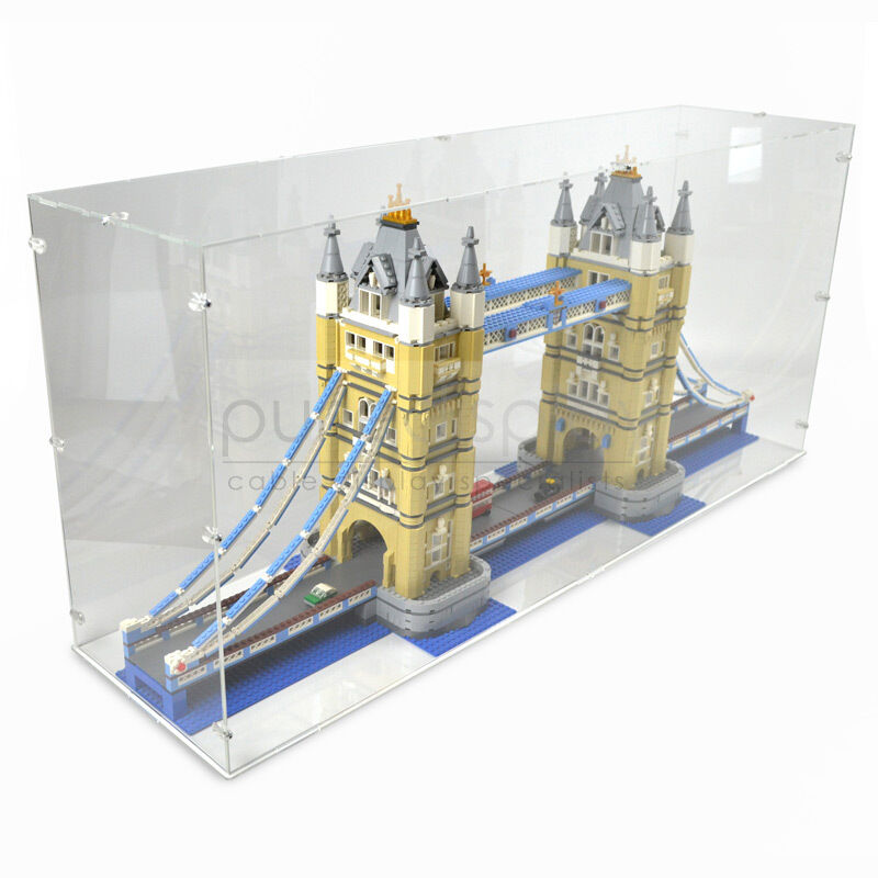 Acrylic perspex model display case for lego 10214 tower for Case lego city