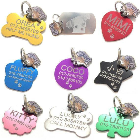 Happy Pet Tag Id Personalized Custom Double Sided Free