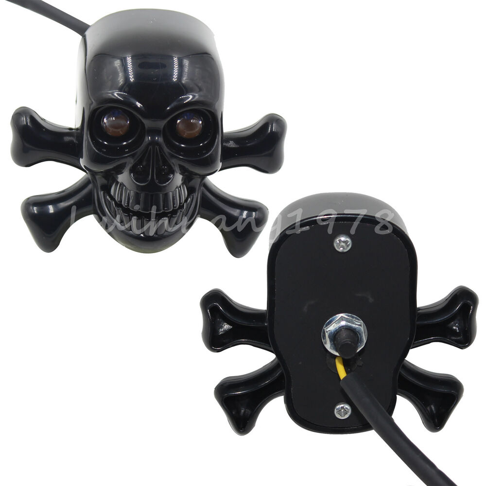 2x Motorcycle Skull Brake Turn Signals Indicator Tail