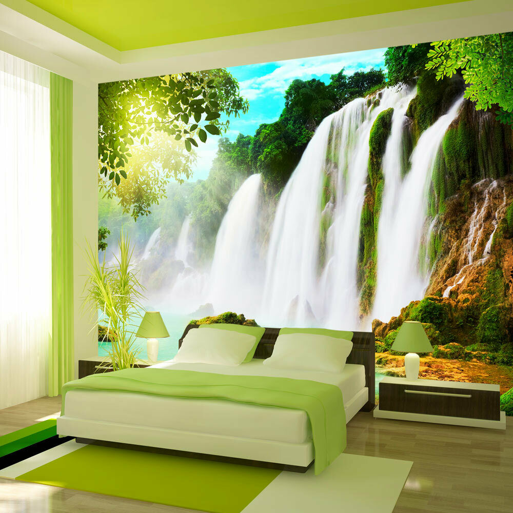fototapete wasserfall vlies tapete landschaft wandbilder wandtapete c a 0026 a a ebay. Black Bedroom Furniture Sets. Home Design Ideas