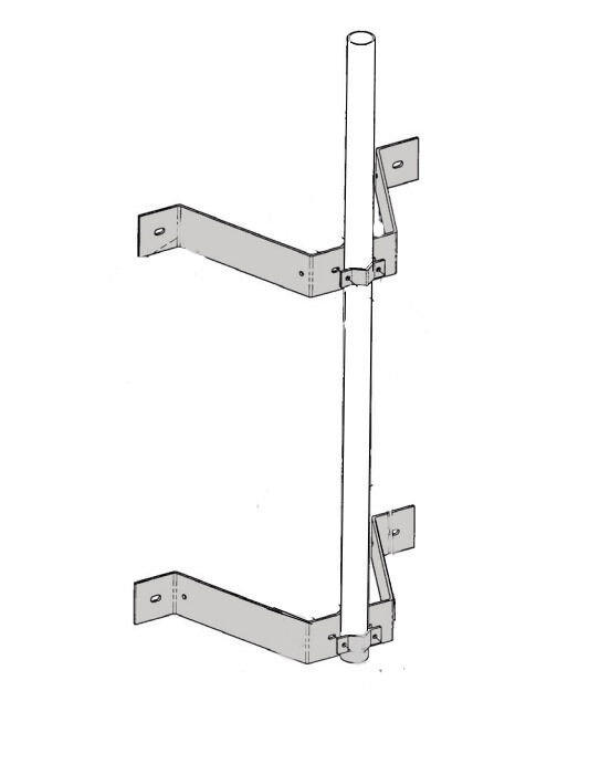 Wall Mount Tube : Rohn wm quot wall mount with long
