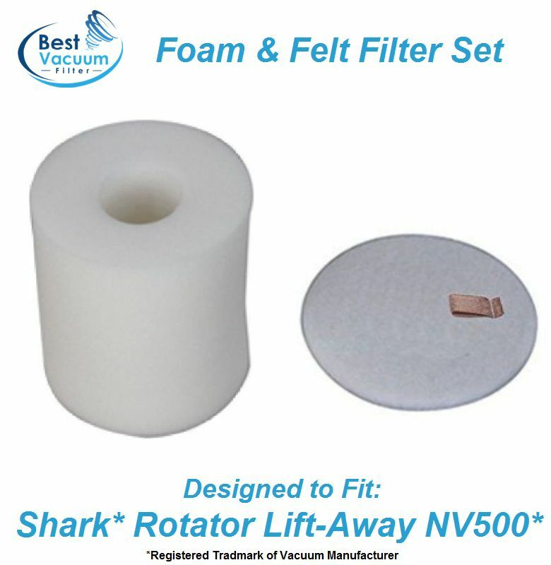 Foam Amp Felt Filter Set For Shark Rotator Lift Away Vacuum
