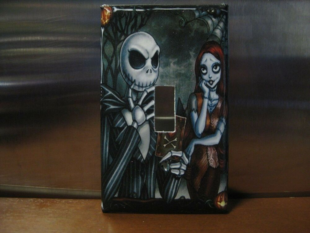 Nightmare before christmas light switch wall plate cover