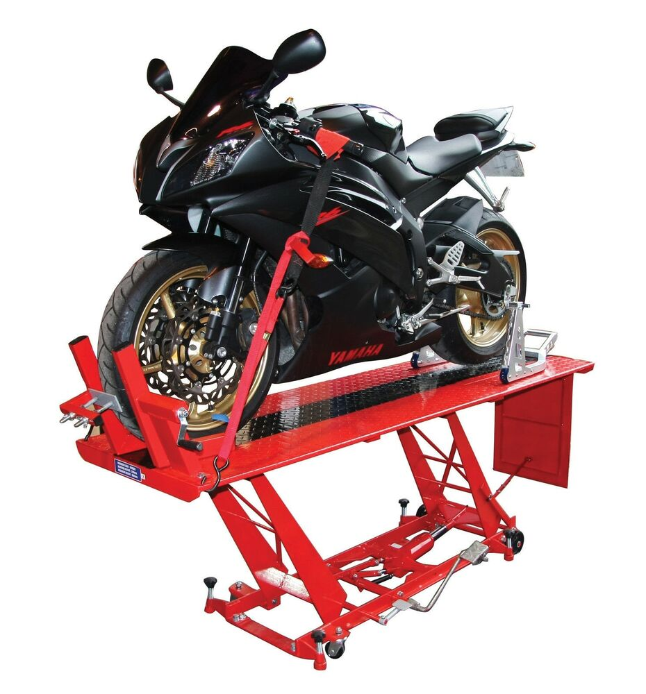 Heavy Duty Hydraulic Motorcycle Mechanics Garage Workshop