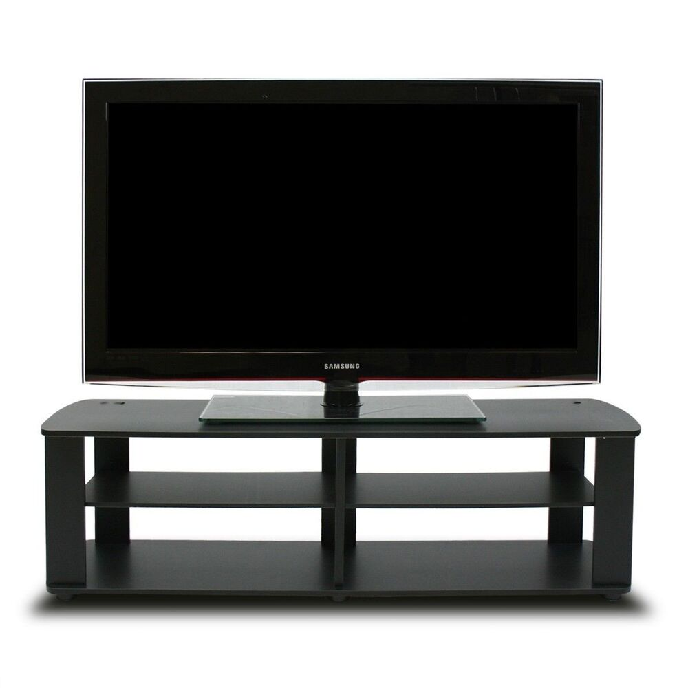 Black Tv Stand Media Entertainment Center 42 50 60 Inch