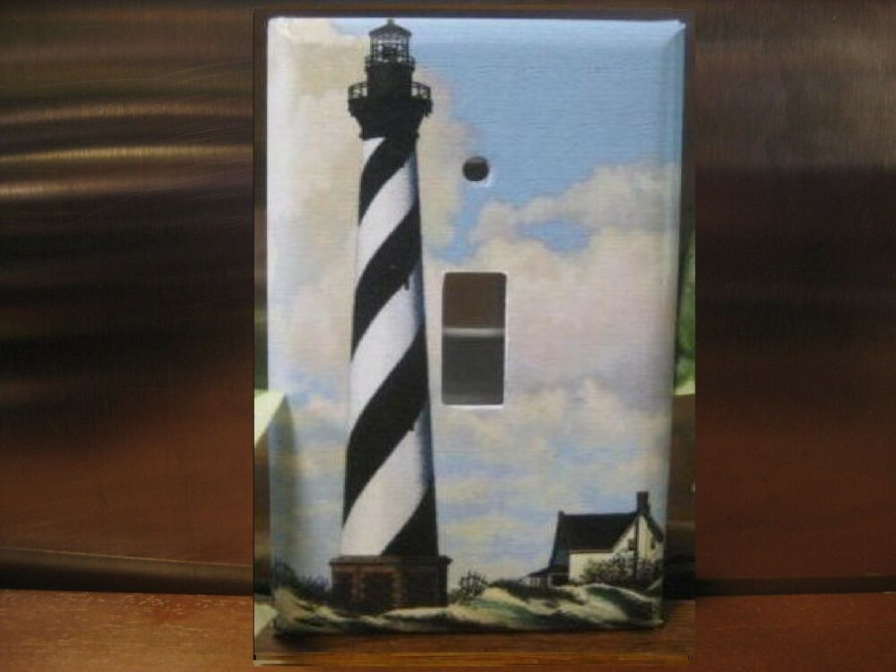 Lighthouse on the bay light switch wall plate cover lh02 for Lighthouse switch plates
