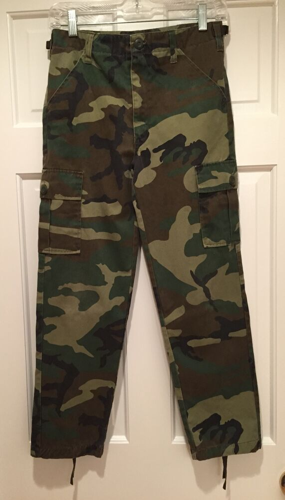 Great Roth Co Junior GI Boys Camouflage Cargo Pants and ...