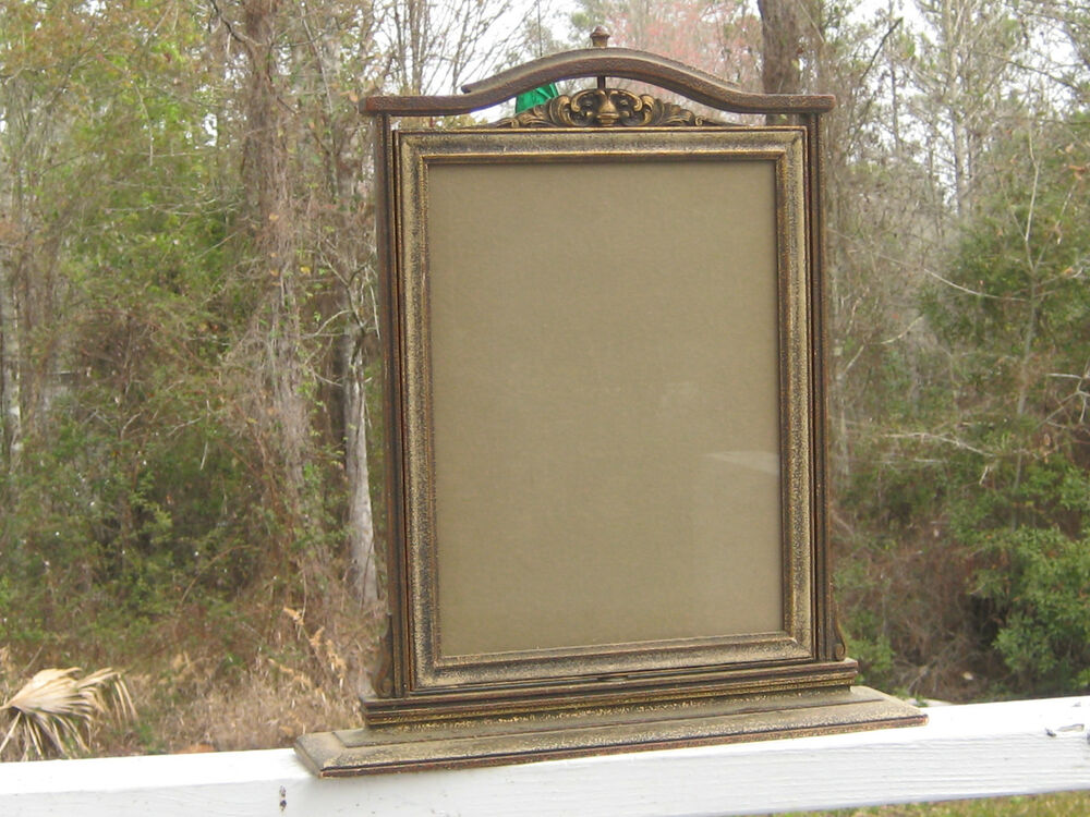 Very Rare 2 Sided 2 Picture Revolving Picture Frame Art