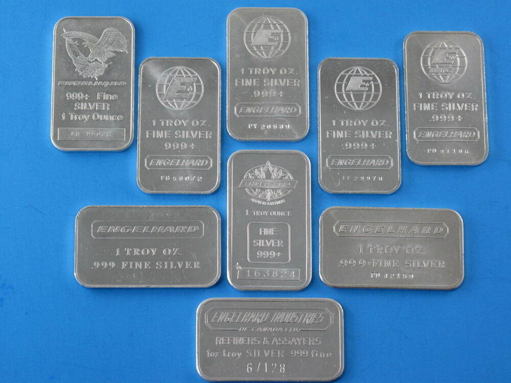 Engelhard 1oz Silver Bars Nine Different Logos Ebay