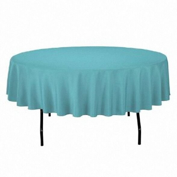120 round turquoise tablecloth linen usa seller formal for 120 round table cover