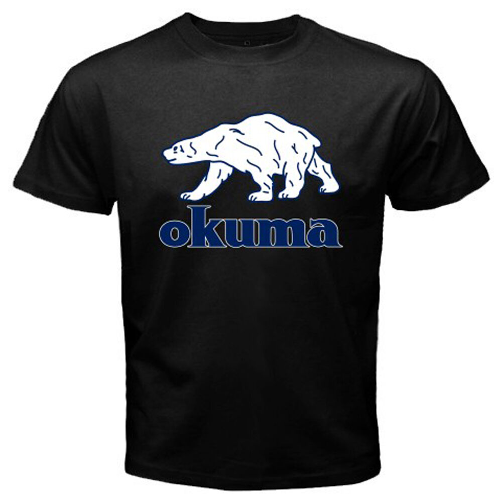 New Okuma Logo Pro Fishing Men 39 S Black T Shirt Size S M L