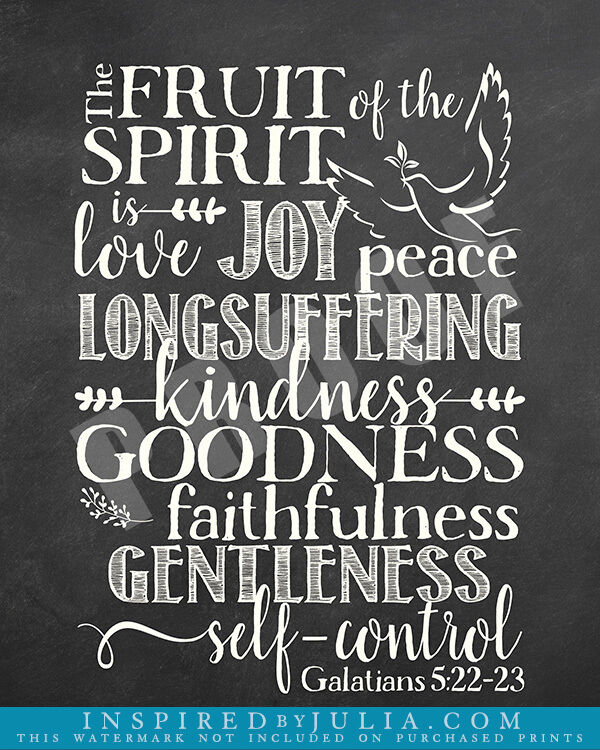 Religious Home Decor Scripture Word Art Fruit of the
