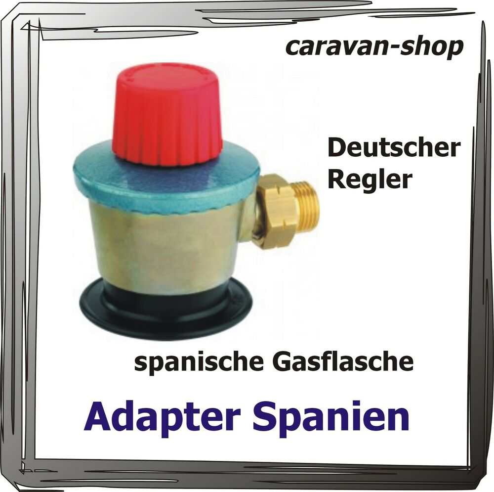adapter gasflasche regler gasanlage caravan wohnmobil. Black Bedroom Furniture Sets. Home Design Ideas