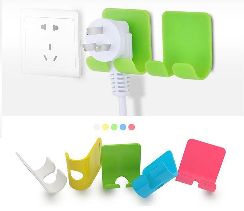 Electrical Cord Hangers: 2 UGREEN Adhesive Power Cord Socket Cable Holder Wall