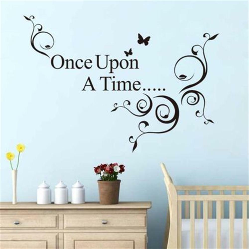 Vinyl Wall Art Quotes For Nursery : Once upon a time quotes decals vinyl wall stickers kids