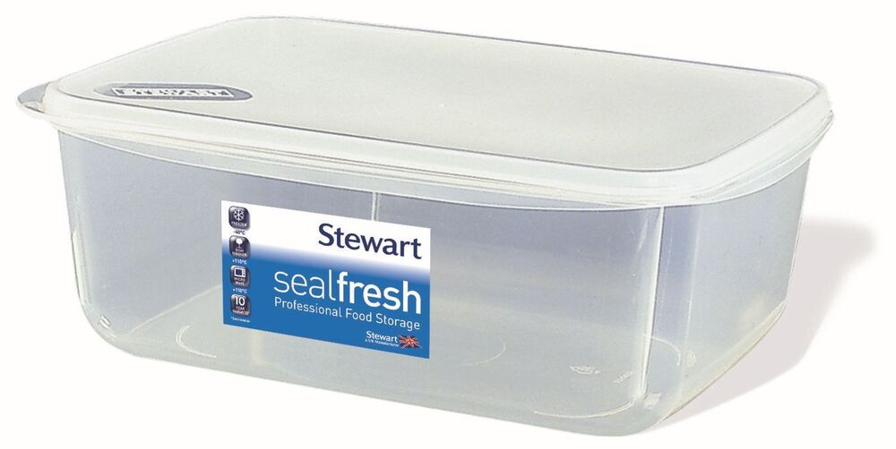 Stewart Sealfresh Plastic Rectangular Airtight Food Storage