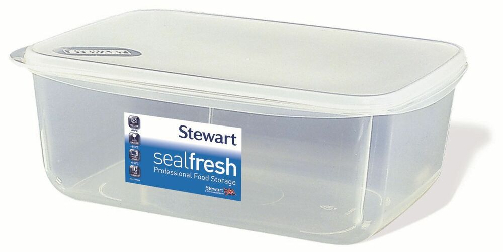 Stewart Sealfresh Plastic Rectangular Airtight Food